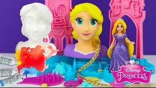 Painting Disney Princess Rapunzel Figurine Doll with Watercolor