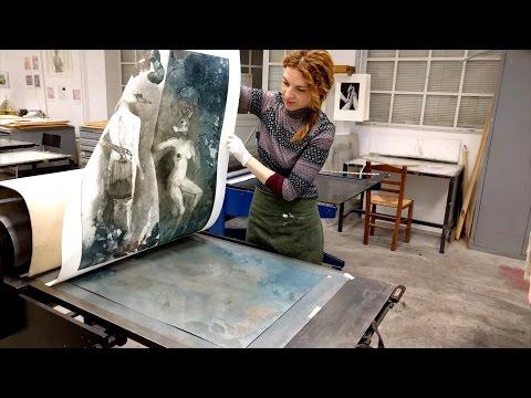 Printing  etching 'Nigredo The Dark Side of Eden'