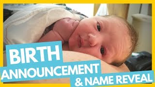 Birth Announcement & Name Reveal 👼🤰Full Time RV Family