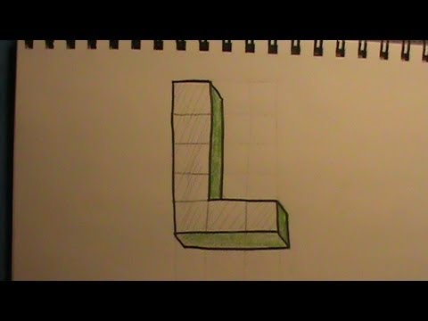 how to draw the letter l in 3d youtube how to draw the letter l in 3d