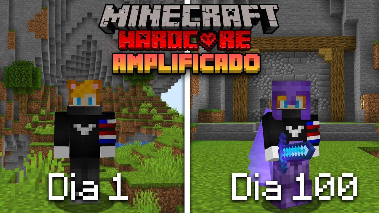 Download SOBREVIVÍ 100 Días en un MUNDO AMPLIFICADO en Minecraft HARDCORE... Esto es lo que pasó