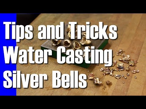 Tips and Tricks how to Water Cast Molten Silver to Make Bell Shapes || Art Vlog Untitled