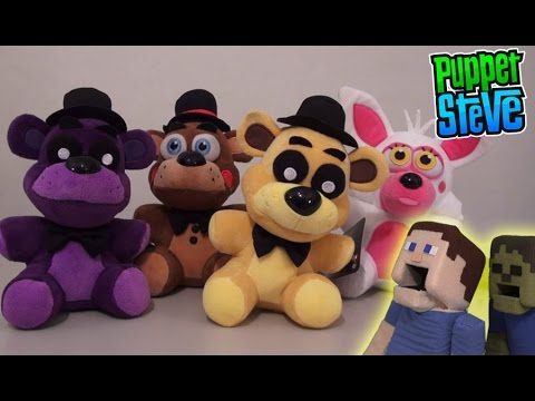 Five Nights at Freddy&39;s FNAF Plushies Exclusives & Rare Series 1 Funko Plush Minecraft Unboxing TGN