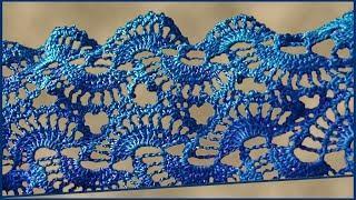 Ленточное кружево крючком. Вязание кружева крючком. Ленточное вязание. Ч. 2 (Ribbon lace. P. 2)