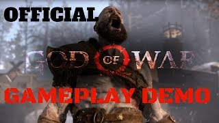 GOD OF WAR 4 PS OFFICIAL GAMEPLAY DEMO - MUST SEE! (2018) PS4