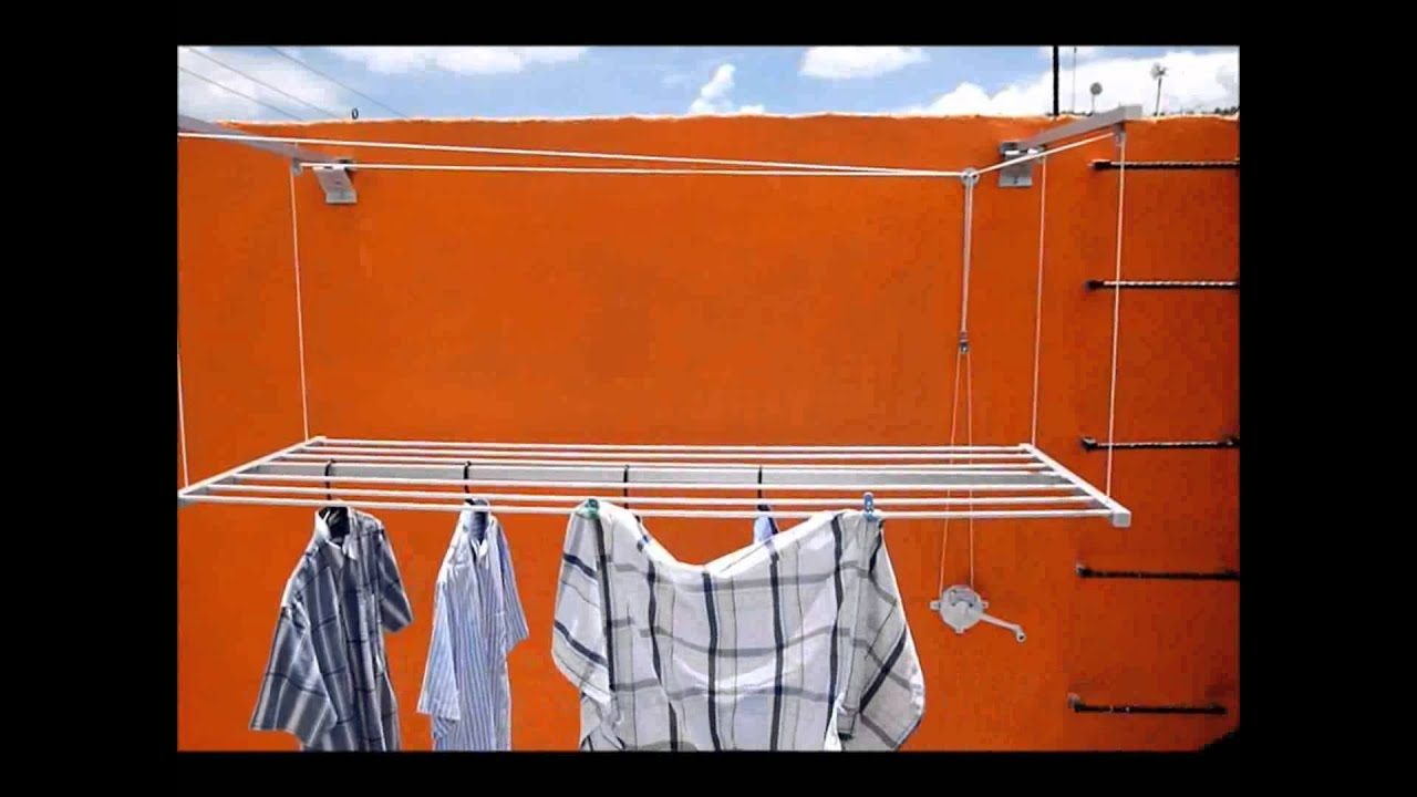 Sutender tendedero a reo youtube - Tendedero ropa exterior ...