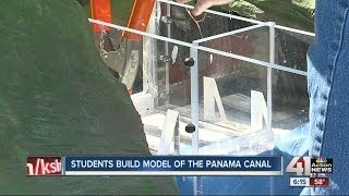 Students build model of Panama Canal