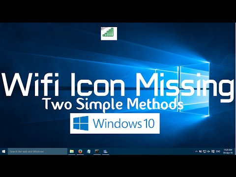 Wifi Icon Missing from Windows 10 Taskbar (Two Simple Methods)