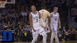 RJ Barrett Goes All The Way Up To Dunk Down Tre Jones' Assist As Duke Explodes
