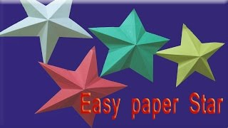 How to make simple & easy paper star || DIY Paper Craft Ideas ||  Videos & Tutorials