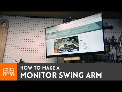 This DIY Wall-Mounted Swing Arm Keeps Your TV or Monitor Off