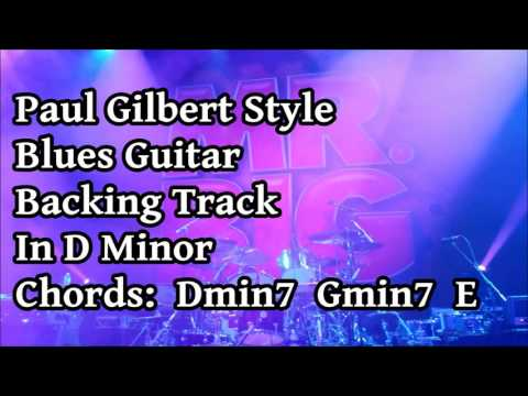 Paul Gilbert Style Blues Backing Track In D Minor (Bivalve Blues)