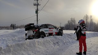 Takamoto Katsuta off the road Arctic Rally Finland 2021 Test Toyota Yaris WRC