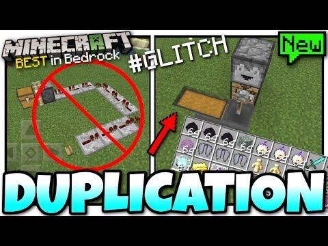 Minecraft - BEST DUPLICATION GLITCH ( Anything ) [ Tutorial ] MCPE