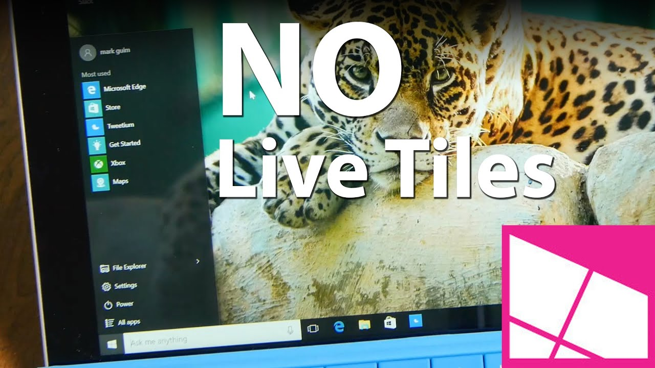How to remove the Live Tiles section in Windows 10 Start | Windows