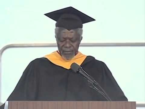 Kofi Annan delivers the 2011 Commencement Speech at SIPA (Columbia University, New York)
