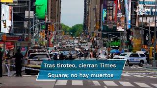 En menor de 4 años fue herido durante el incidente; Times Square permanece cerrado en tanto concluyen las investigaciones policiales