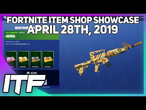 Fortnite Item Shop *NEW* BEASTMODE WRAP BUNDLE! [April 28th, 2019] (Fortnite Battle Royale)
