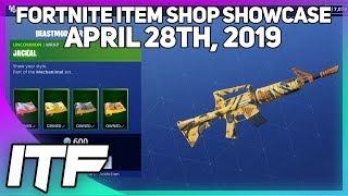 Fortnite Item Shop *NEW* BEASTMODE WRAP BUNDLE! [April 28th, 2019] (Fortnite Battle Royale)