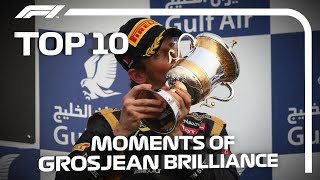 Top 10 Moments of Romain Grosjean Brilliance in F1