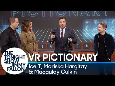 Virtual Reality Pictionary with Ice T and Mariska Hargitay and Macaulay Culkin