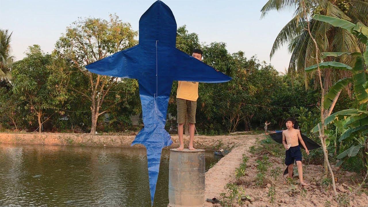Thả Diều Cá Mập Khổng Lồ Tự Làm