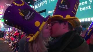 Як зустрічали Новий рік на Таймс сквер у Нью Йорку (відео)