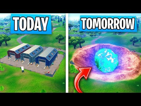 The LAST DAY of DUSTY DEPOT in Fortnite! (Season 4 METEOR Destroys TOMORROW)