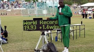 The Start of a Legend - 17yr old Usain Bolt (200m - 19.93) WJR