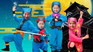 ●普段遊び●Ninja Me アプリで忍者になって遊んだよ♡まーちゃん【5歳】おーちゃん【3歳】NinjaMe app I became a ninja and played it thumbnail