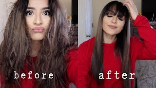 how i straighten mỳ hair ( products i use )