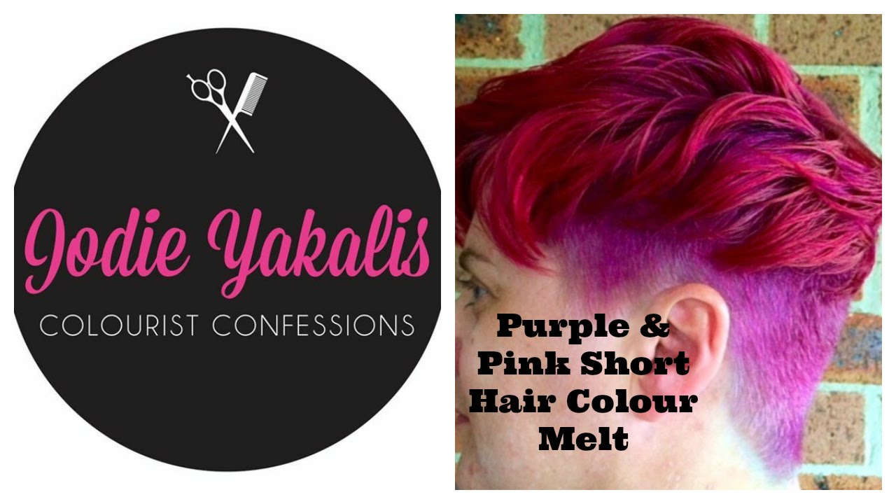 Purple And Pink Short Hair Colour Melt Youtube