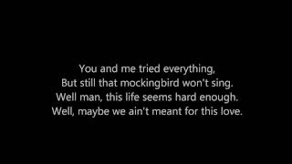 """Mockingbird""- Rob Thomas w/ lyrics"