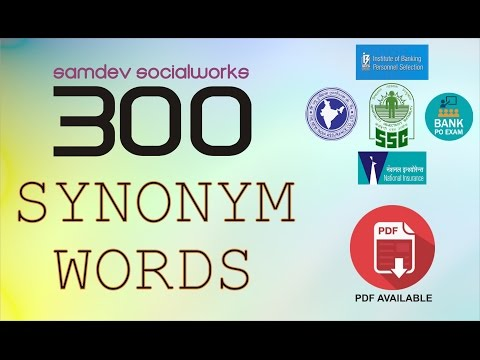 300 SYNONYM WORDS (Selected by the Experts)
