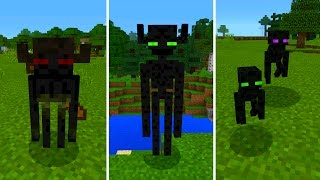 New Enderman Mobs in Minecraft Pocket Edition (Farlanders Addon)