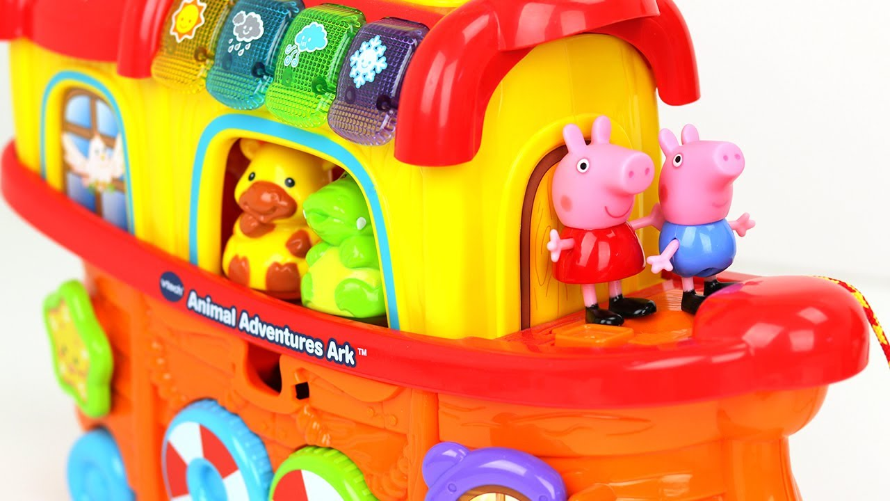 ¡Aprende Animales, Colores, y Clima con Peppa Pig Español! Jugete VTech Arca de Noé