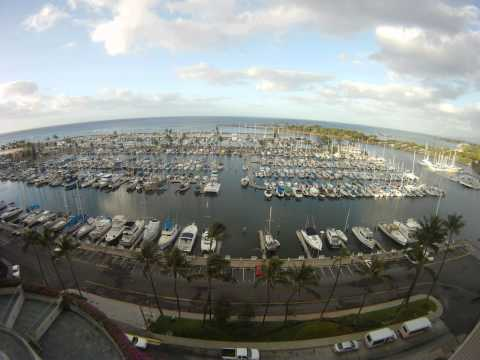 Timelapse: View from the room at Prince Waikiki in Honolulu, HI