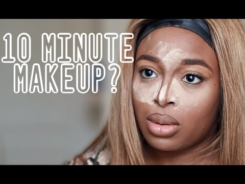 I TRIED TO DO MY MAKEUP IN 10 MINUTES, While Battling Life