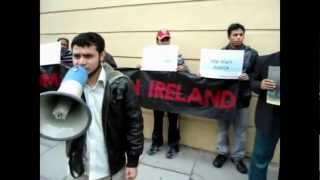 ABBU.MYANMAR (RNP) protest in Ireland by rohingya on 13 june 2012