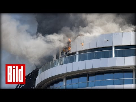 Hotelbrand in Dubai - BILD-Reporter vor Ort