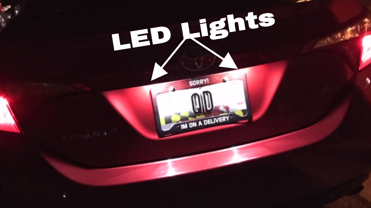 How To Change License Plate Lights On 2014 2017 Toyota Corolla Youtube 2013 Acura Rdx Fuse Box