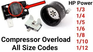 Compressor all size overload codes,Numbers 1/3,1/4,1/5,1/6 and more size in urdu/hindi