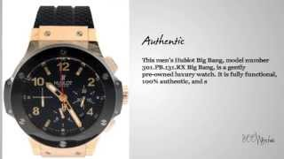 Look at this pre owned Hublot 301.PB.131.RX Big Bang 18k Rose Gold Ceramic Carbon Fiber Watch