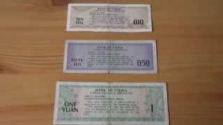 Yuan FOREX certificates of the Bank of China in HD