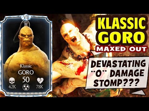 MKX Mobile 1.15. Klassic GORO Gameplay + Review. AMAZING Character with SO MANY BUGS!