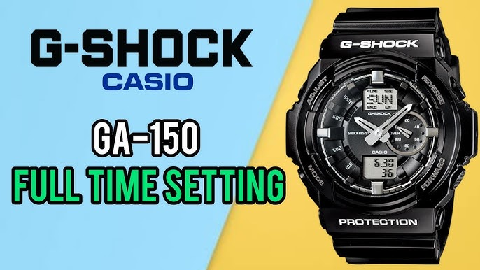 How To Setting Time On A G Shock Ga 150 Digital Watch Watch Repair Channel Youtube