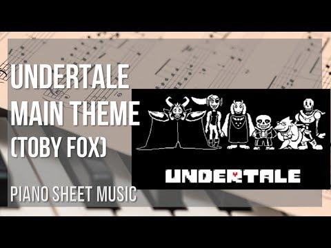 Undertale Main Theme By Toby Fox Alto Sax Sheet Music