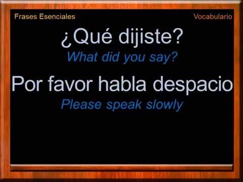 Essential Phrases in Spanish   Everyday Phrases in Spanish   Spanish Vocabulary   Learn Spanish