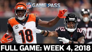 Cincinnati Bengals vs. Atlanta Falcons Week 4, 2018 Full Game