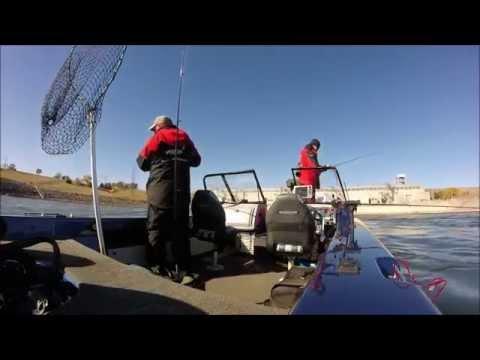 Walleye Fishing On Francis Case Reservoir Fall 2014